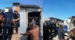 N@ked man forcefully evicted from the shack by City of Cape Town officials