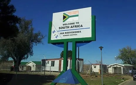 Lesotho and South Africa border post