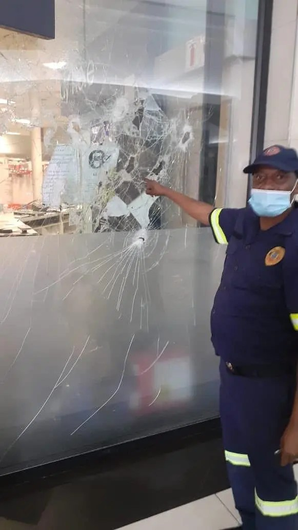 Clicks store at Alberton mall vandalised with hammers and set alight