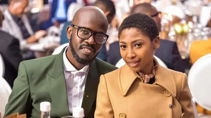 Enhle Mbali and DJ Black Coffee