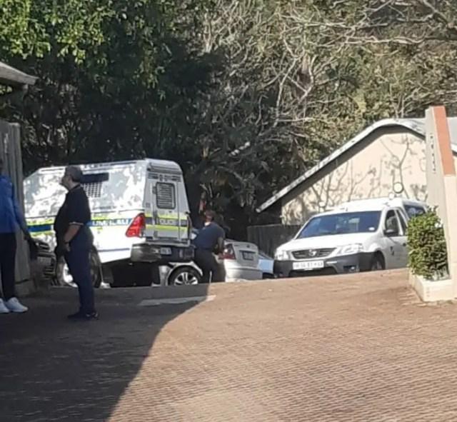 Investigators at the Simbithi Eco Estate, north of Durban