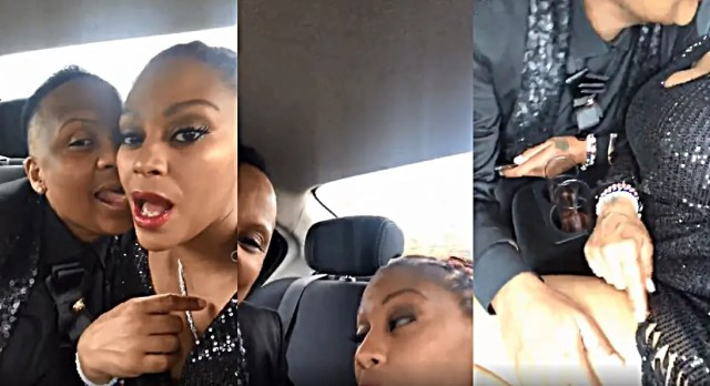 Letoya Makhene & lesbian lover Lebo go deeper at back seat of a Car