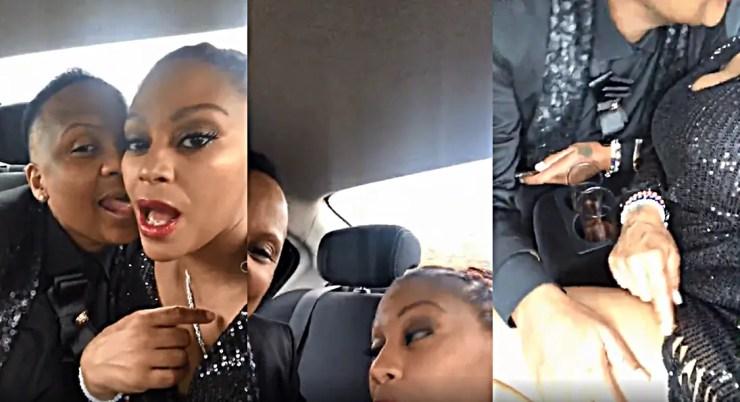 Letoya Makhene & lesbian lover Lebo go deeper at back seat of a Car