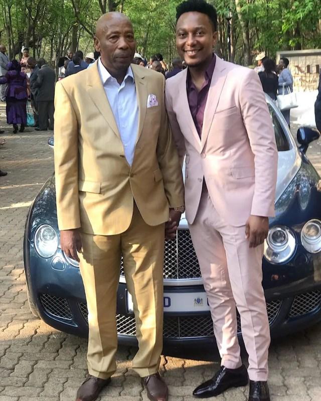 Tebogo Lerole and Khanyi Mbau dad