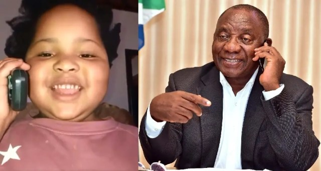 Video of this Child's phone call to President Ramaphosa got South African's laughing