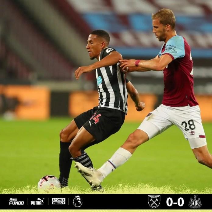 Newcastle 2 – 0 West Ham
