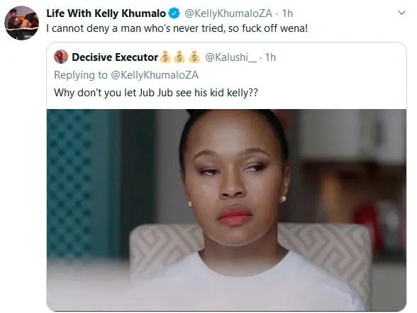 kelly khumalo clapback