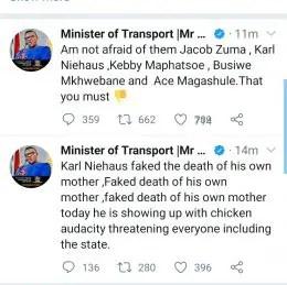 Fikile Mbalula tweet