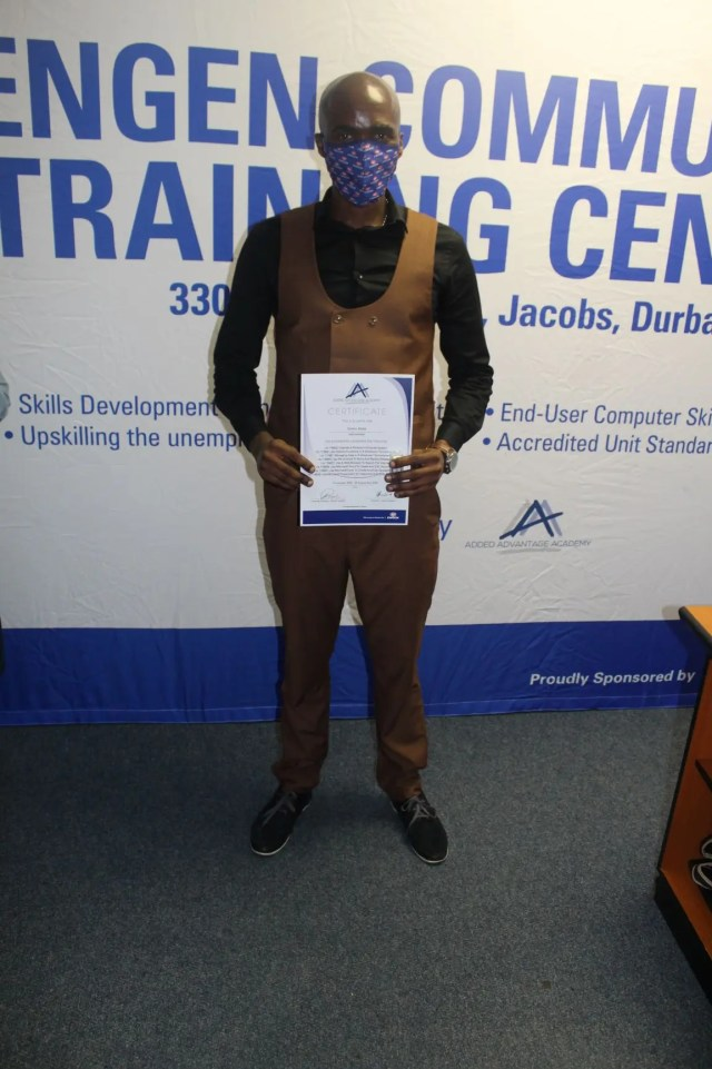 Graduate Sicelo Xaba was one of the top achievers