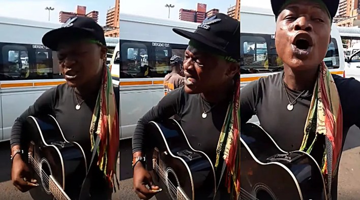 Taxi rank man with an angelic voice impresses South Africans