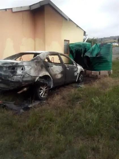 Zwakele Ndwandwe car burnt