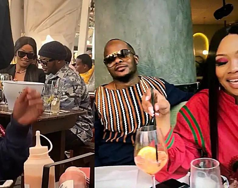 Bonang Matheba & one of the Major League DJz, Banele