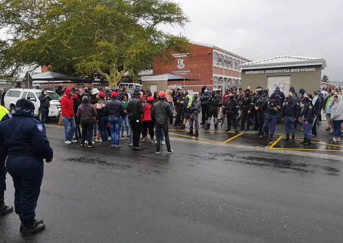 EFF members at Brackenfell High School