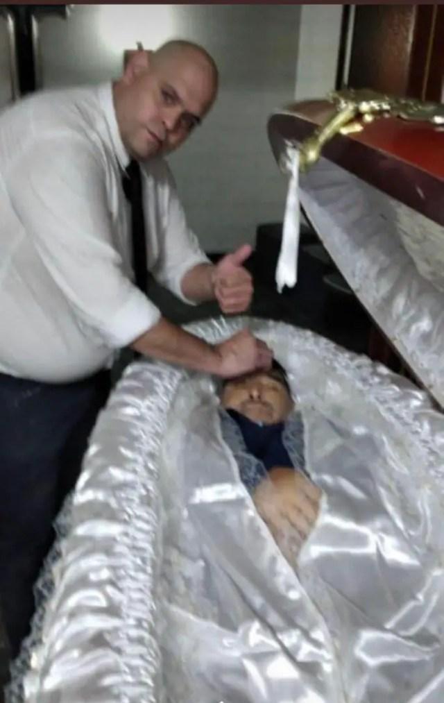 Maradona Open Coffin
