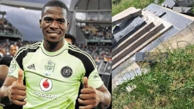 Senzo Meyiwa's tombstone vandalised