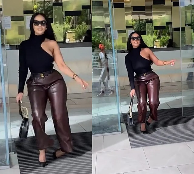 Mihlali Ndamase almost broke her ankle while slaying