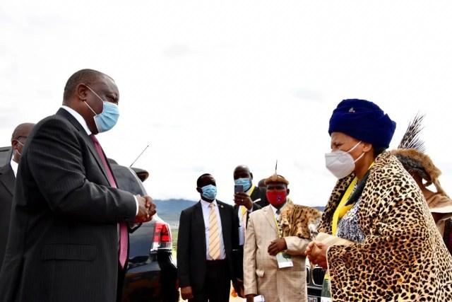 President Cyril Ramaphosa at Bapedi King funeral