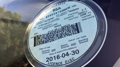 SA vehicle discs