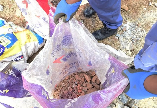 Shock as police recover unprocessed gold underground