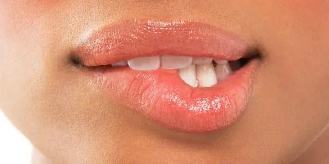 masturbation lip biting