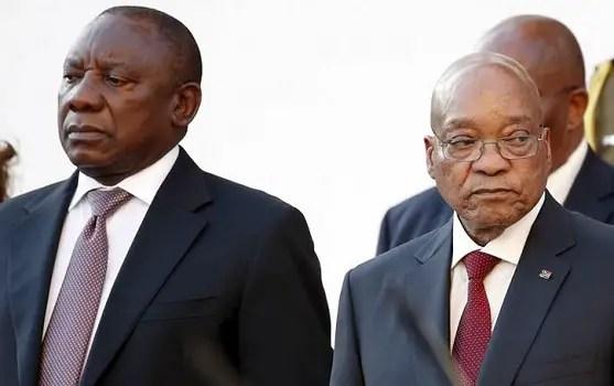 Cyril Ramaphosa and Jacob Zuma
