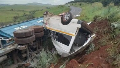 Horrific truck and taxi accident caught on dashcam