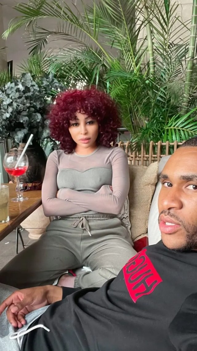 Khanyi Mbau and bae Kudzi