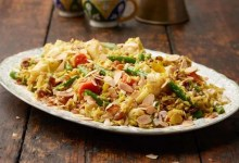 Mixed vegetable and almond biryani