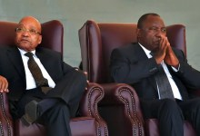 President Cyril Ramaphosa and Jacob Zuma