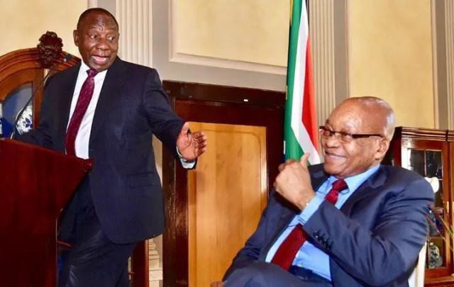 President Cyril Ramaphosa and Jacob Zuma