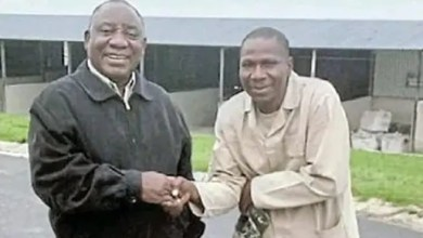 President Cyril Ramaphosa and his farm worker