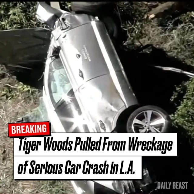 Tiger Woods car wreck