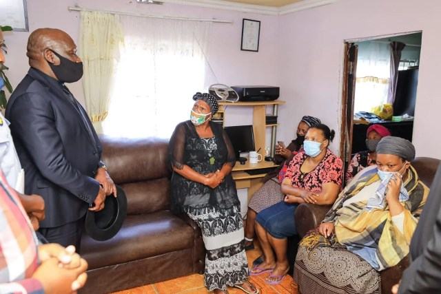Bheki Cele visits families of slain police officers in Cape Town