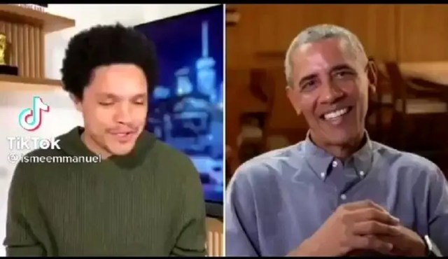 Former President of America, Barack Obama throws Trevor Noah under the bus