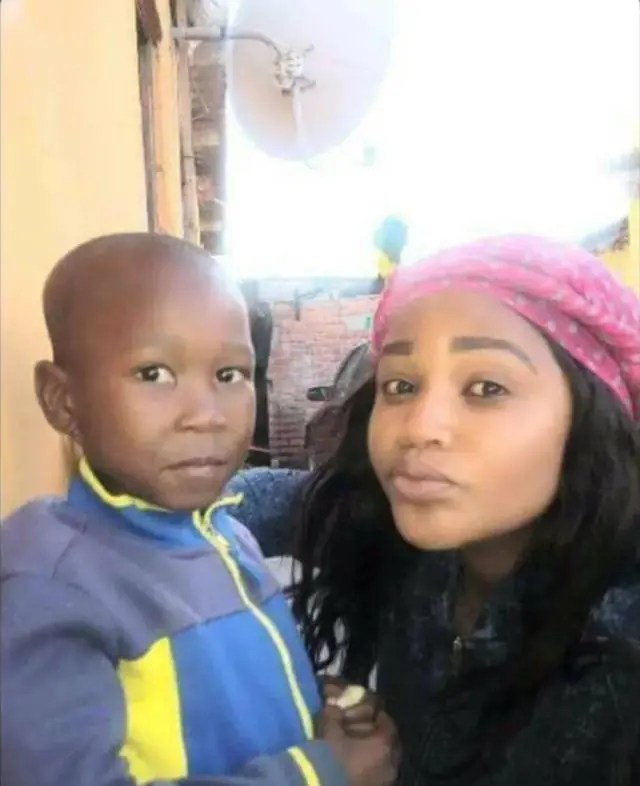 Julius Malema's ex-housemaid shows off her child who looks exactly like him