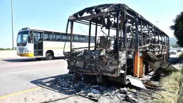 Putco bus burns on N1 highway