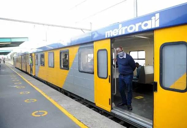 metrorail train at Langa station