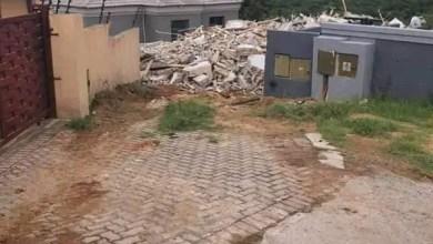 rubbles of house demolished by Mpumalanga businessman