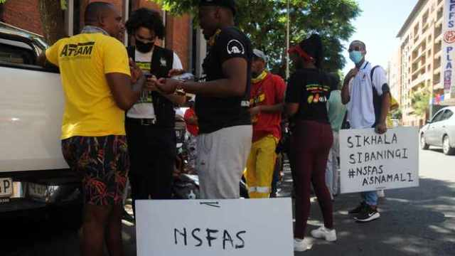 students cry for Nsfas