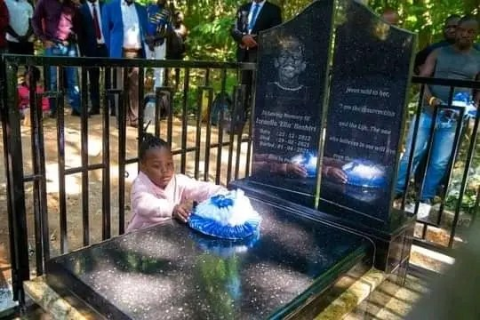 Prophet Bushiri and family visit Israella's grave after her burial