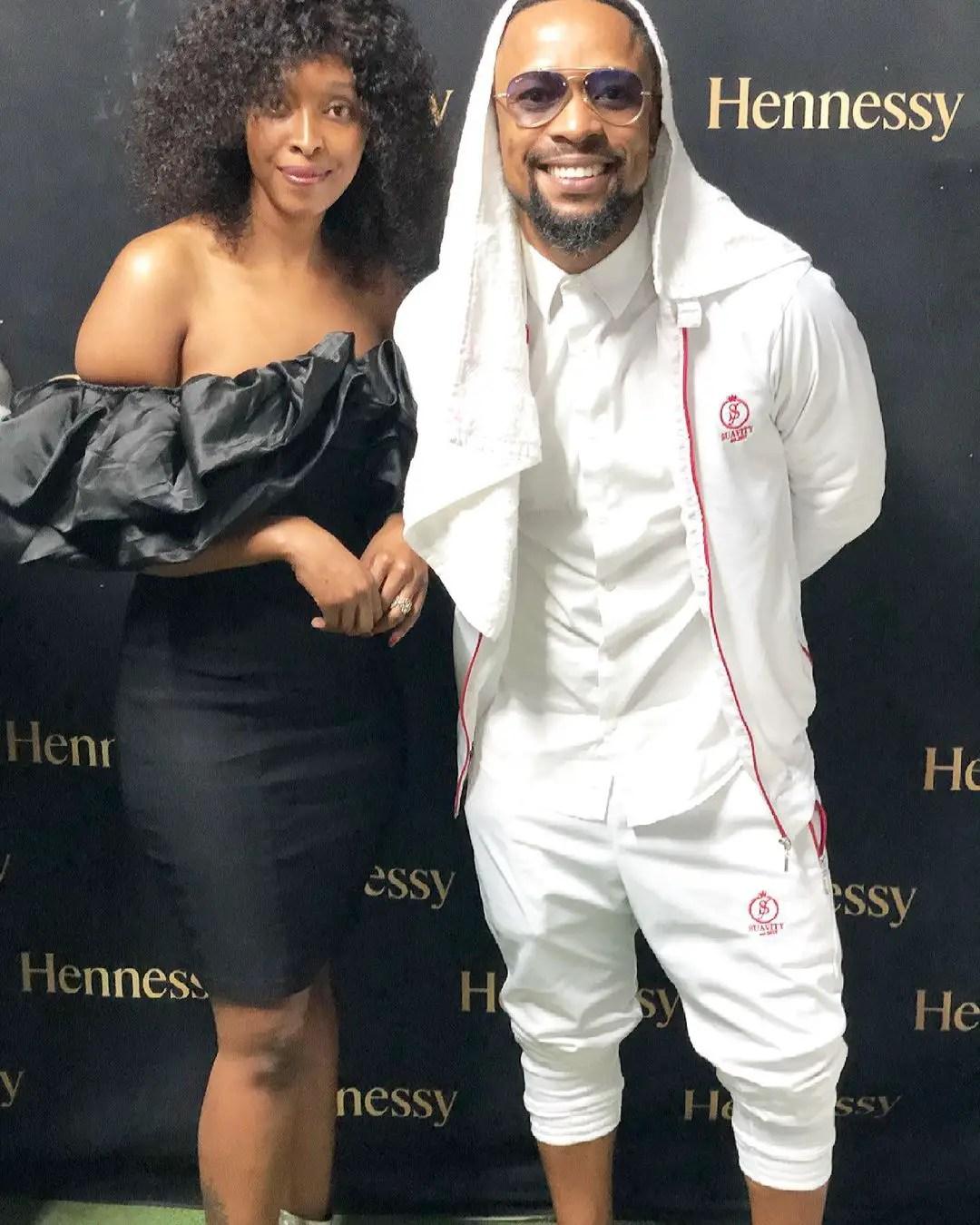 SK Khoza and his fiancé Mandy Hlongwane