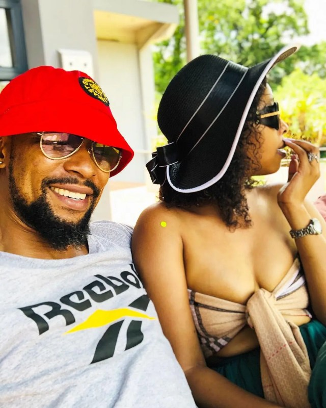 SK Khoza and his fiancé Mandy Hlongwane