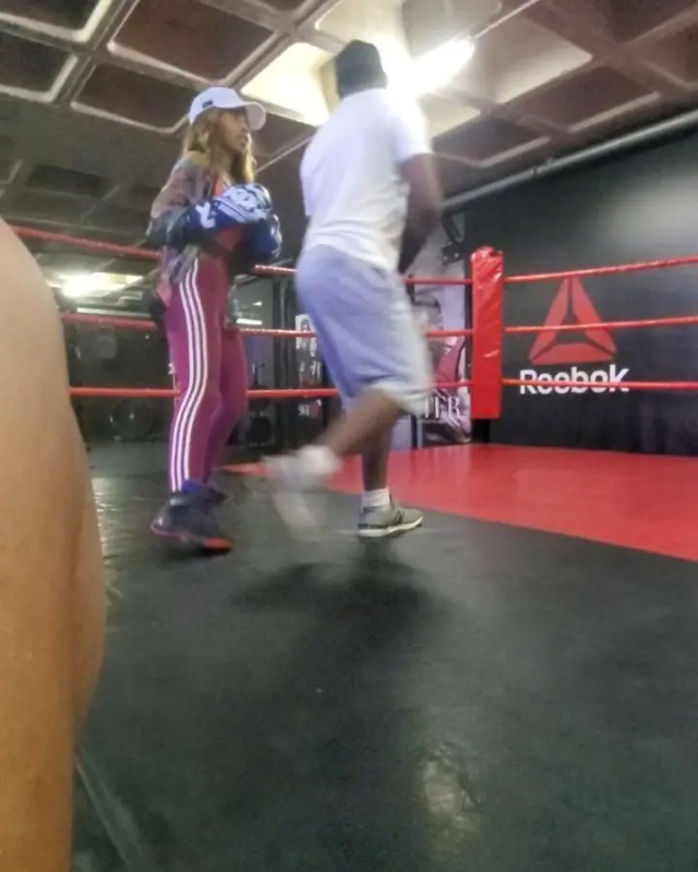 Somizi takes daughter, Bahumi to the boxing ring