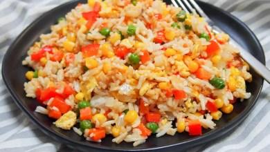Vegetarian egg fried rice