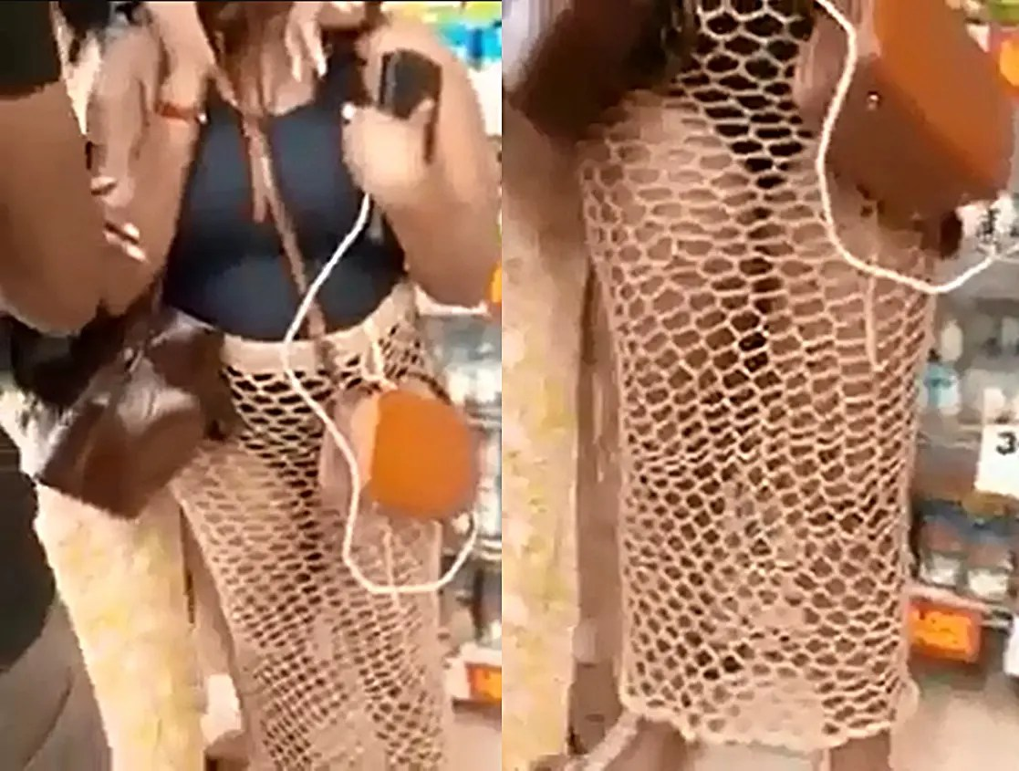 Woman heavily attacked for wearing a revealing outfit in public