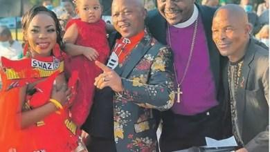 Controversial Bishop Israel Makamu officiates Uzalo actor Ernest Msibi (Amos') wedding