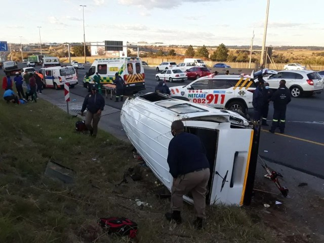 One dead, multiple injured in Midrand rollover