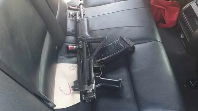 Weapons found inside hijacked car in Crown Mines