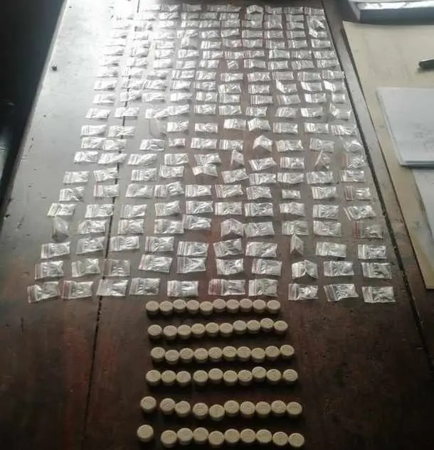 CT metro police arrest suspects hiding drugs in a shoe and face mask