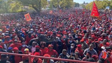 EFF vaccine protest